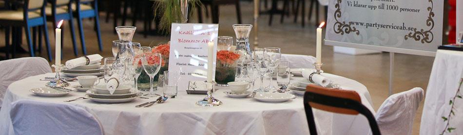 Borås party service AB partytält bord stolar porslin bestick